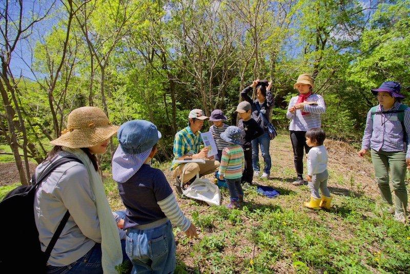 親子で自然観察や農体験ができる